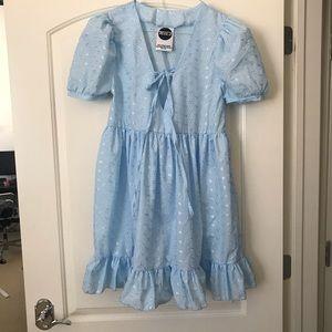Milk it mini blue dress ruffles
